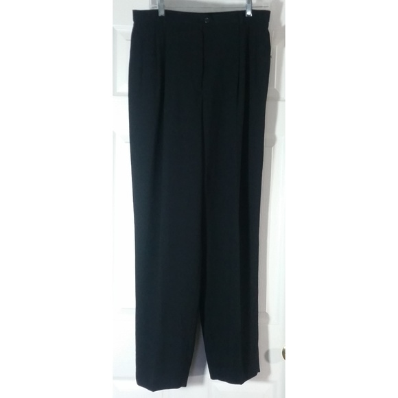 e3db429af0873 Liz Claiborne Black Lined Dress Pants 14 NWT